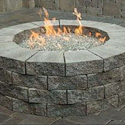 CAMBRIDGE PRE-PACKAGED CAMBRIDGE ROUND GAS FIRE PIT KIT
