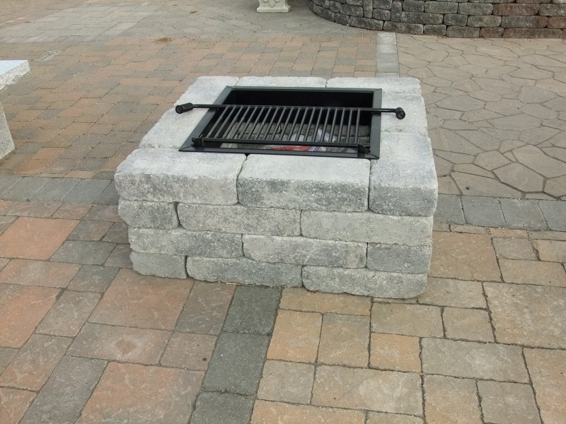 Pavestone Square Fire Pit Harkens Landscape Supply