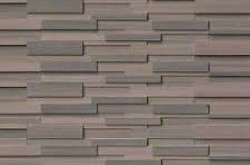"Brown Wave 3d Honed Panel 6""x24"""