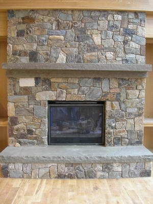 this is the related images of Cobblestone Fireplace