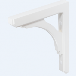 Mailbox Bracket Wood White