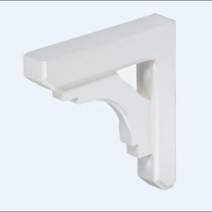 Mailbox Bracket Small Wood White