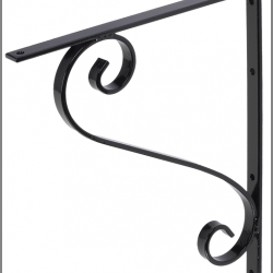 Mailbox Bracket Iron Black 106MBB