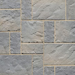 Techo Bloc Blu 60 Slate Collection 10' x 10' Patio Kit Champlain Grey Blu 60