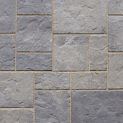Techo Bloc Blue 60 Slate Collection 10'x10' Patio Kit Shale Grey Blu 60